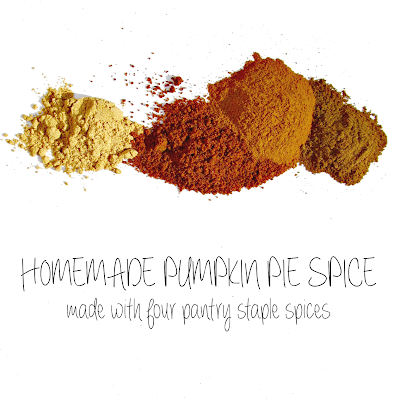 Homemade Pumpkin Pie Spice (made with four pantry staple spices)