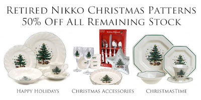 Nikko Christmas Dinnerware Retired Patterns now 50% Off  sc 1 st  Dr. Dinnerware - Blogger : nikko christmastime dinnerware - pezcame.com