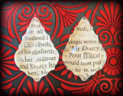 image faceted glass chandelier teardrops pride and prejudice mr darcy Elizabeth Bennet vintage book text
