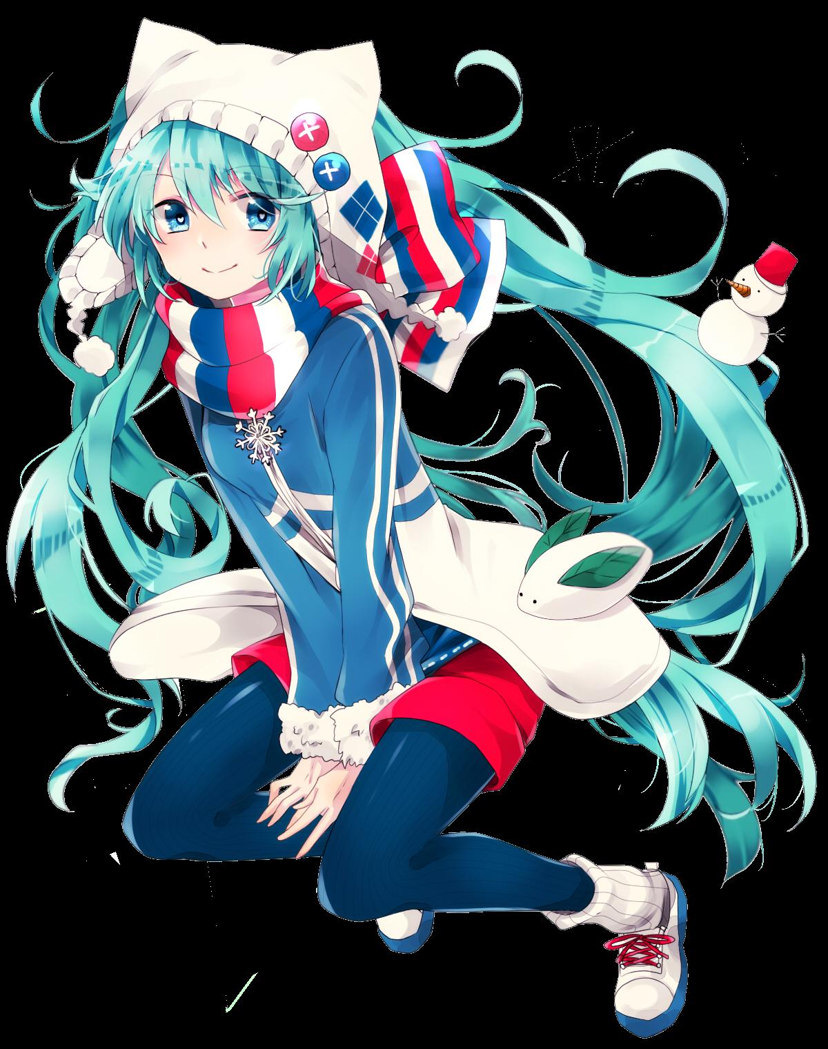 RENDER Hatsune Miku  Winter