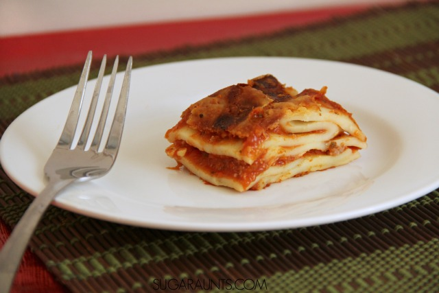 Lasagna dinner for busy families