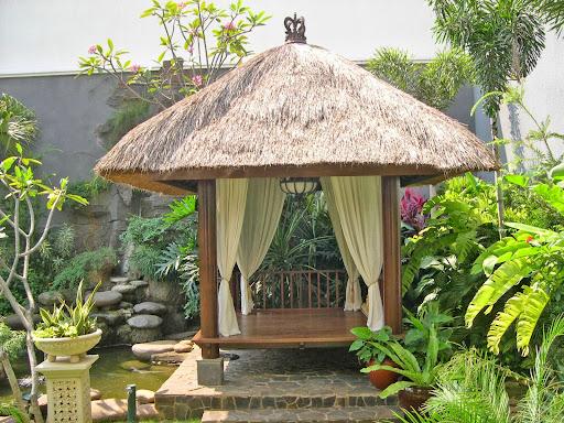 Bali style design for a backyard gazebo for Bali garden designs