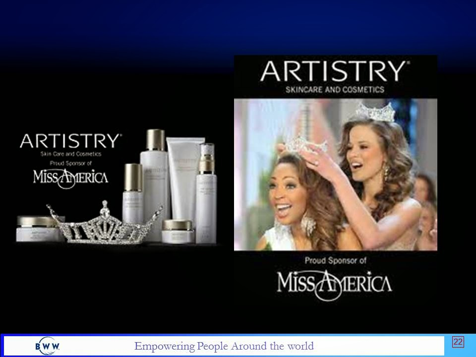 Amway Artistry Sponsors Ms America