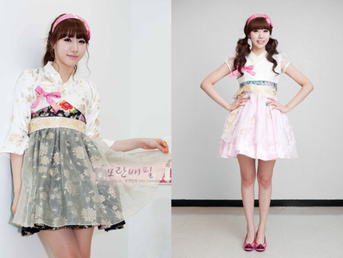 And this is the fashionable fusion hanbok modern fashion