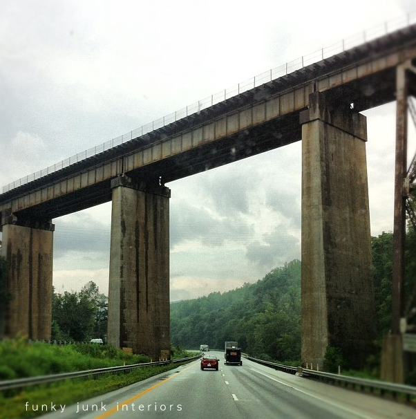 Tall bridge in the south via Funky Junk Interiors