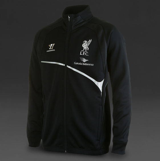 jual jaket training liverpool Hitam Garuda Indonesia 2014-2015,disain warna Hitam dan pakai sponsor garuda
