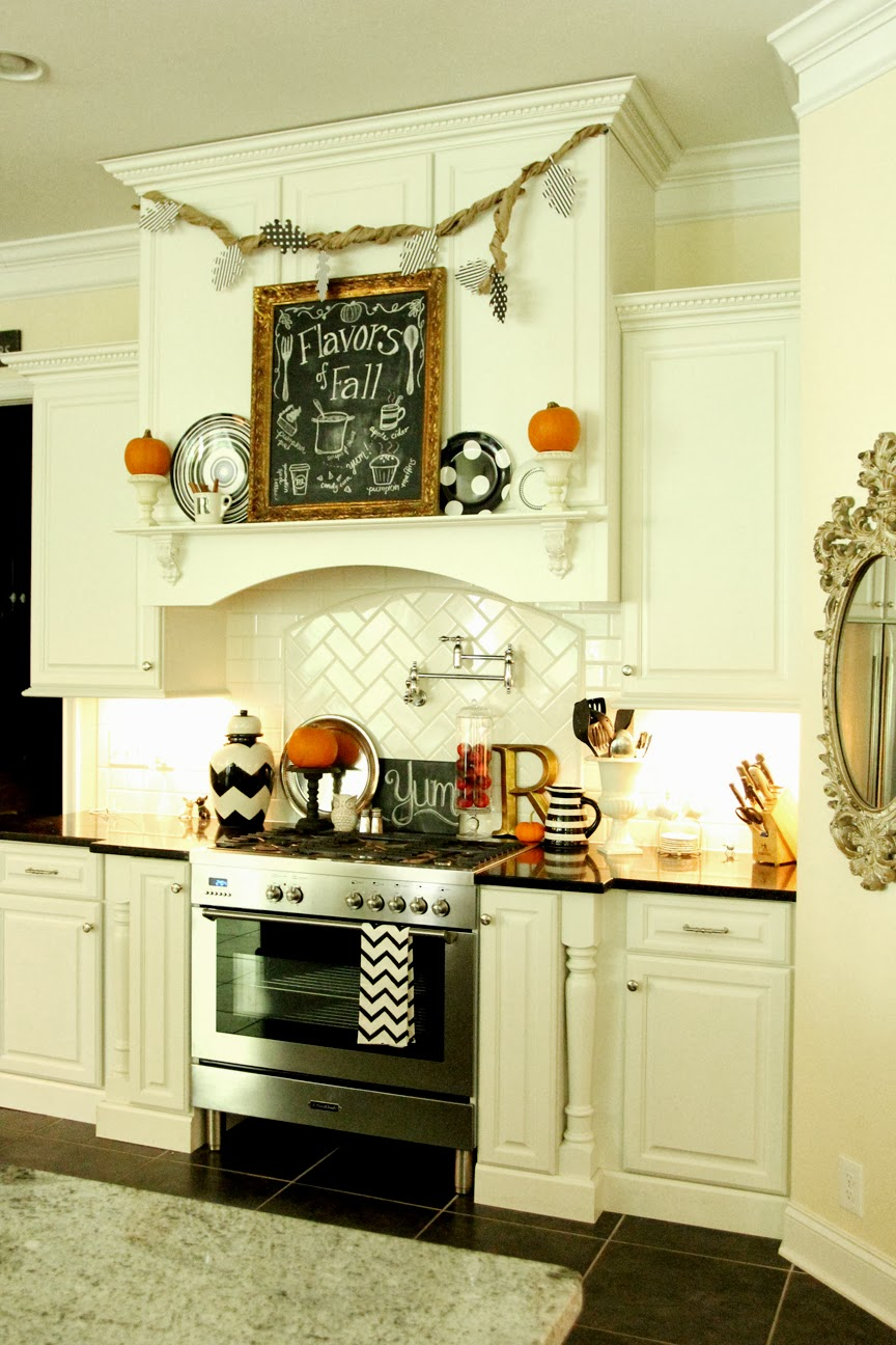 My Fall Kitchen Decor and a Free Fall Chalkboard Printable! | Less ...