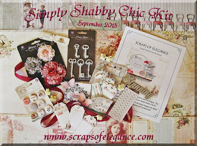 Scraps of Elegance September Simply Shabby Chic scrapbook kit