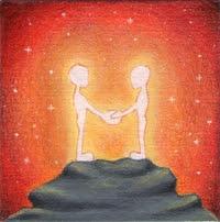 orme magiche dipinti coppia amore pittura mini quadri piccoli disegno spirituale arte zen