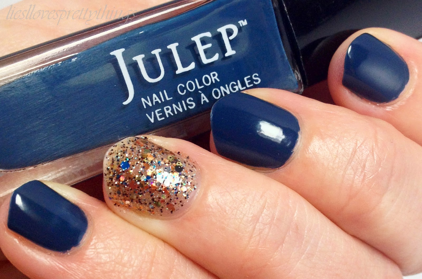 Julep Eloise with a Shimmer Carol accent