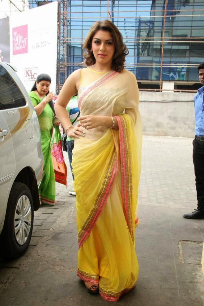 hansika beautiful saree stills