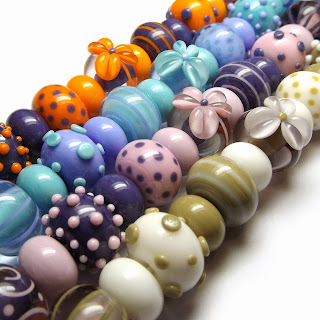 Lampwork glass bead mixes