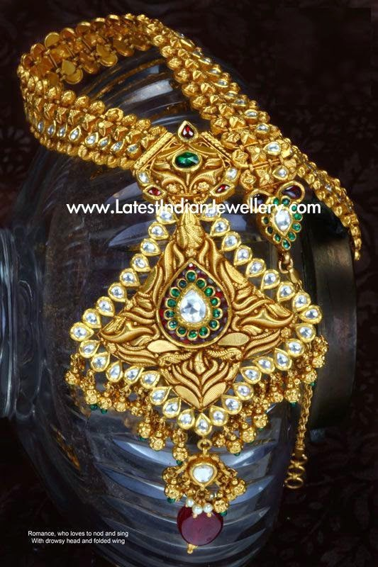 Royal Antique Kundan Gold Haram