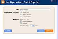 Entri Populer Pada Blog