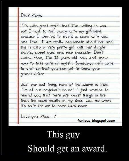 Letter like never before