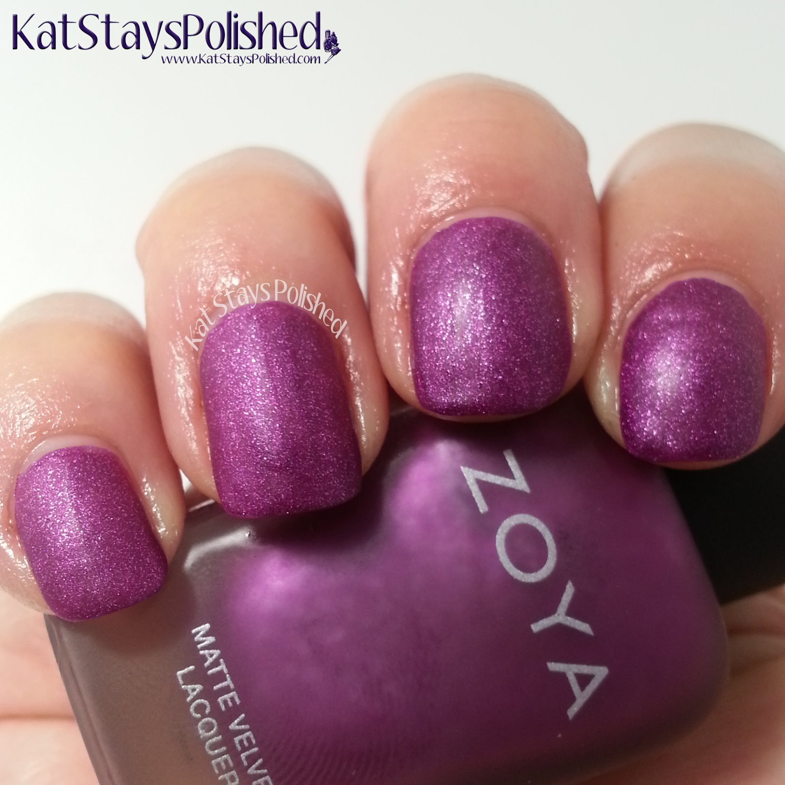 Zoya Matte Velvet - Harlow | Kat Stays Polished