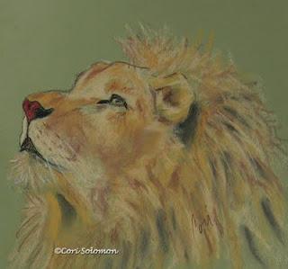 Lion Art by Cori Solomon