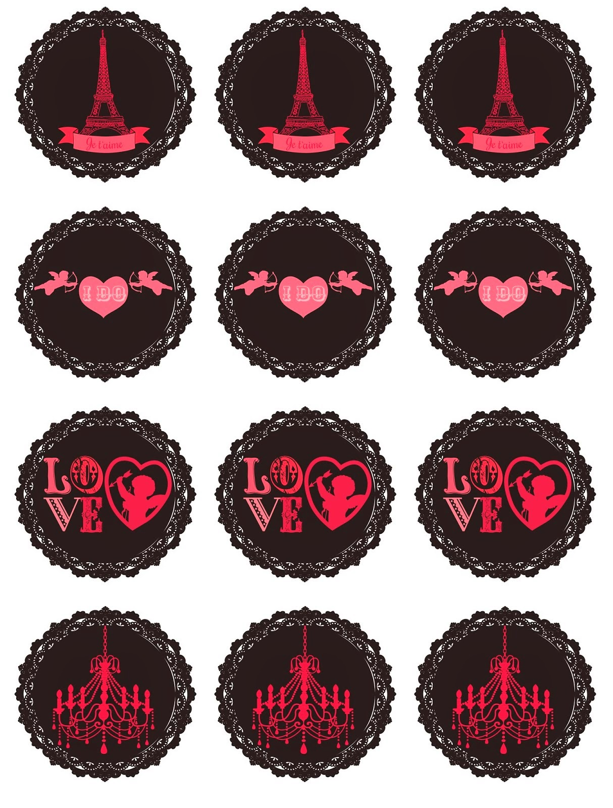 París: Free Printable Valentine´s Day Mini Kit.