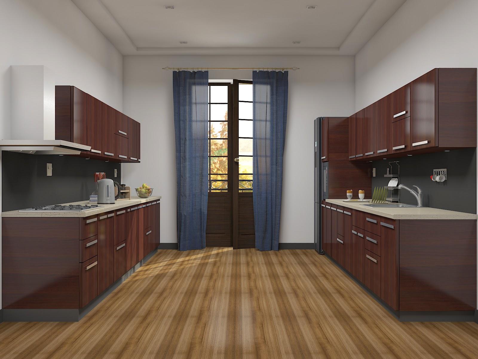 Pin modular kitchen estimate in india on pinterest for Parallel modular kitchen designs india