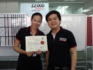 Newly Promoted Team Leader Dawn Toh with Jovin Chia Hong Xuan