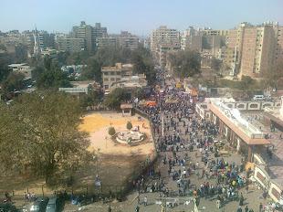 الجيش يطوق محطة مترو حلوان