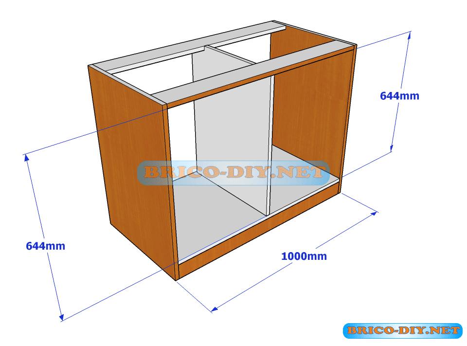 Plano y medidas de c mo hacer una comoda de melamina con for Como instalar una cocina integral pdf