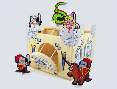 Your child is sure to love this kit! This castle comes with stickers ...