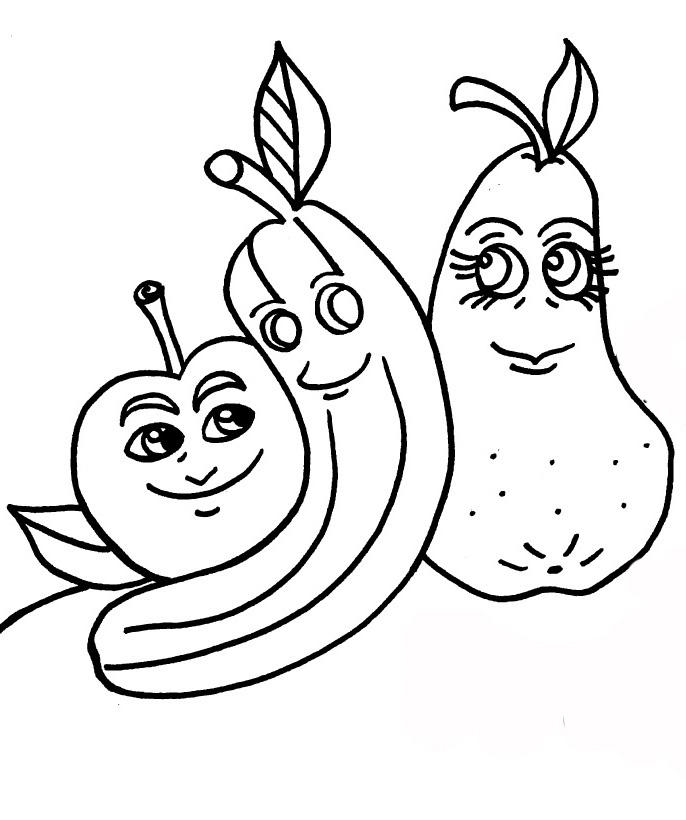 Apples And Bananas Coloring Pages : Banana split coloring page printable image