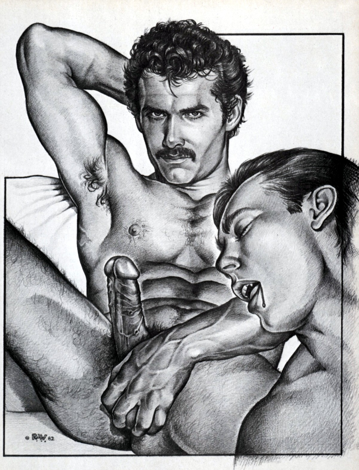 DIBUJOS de Hombres para Hombres ARTE GAY!