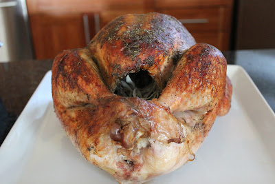 Cider-roasted turkey