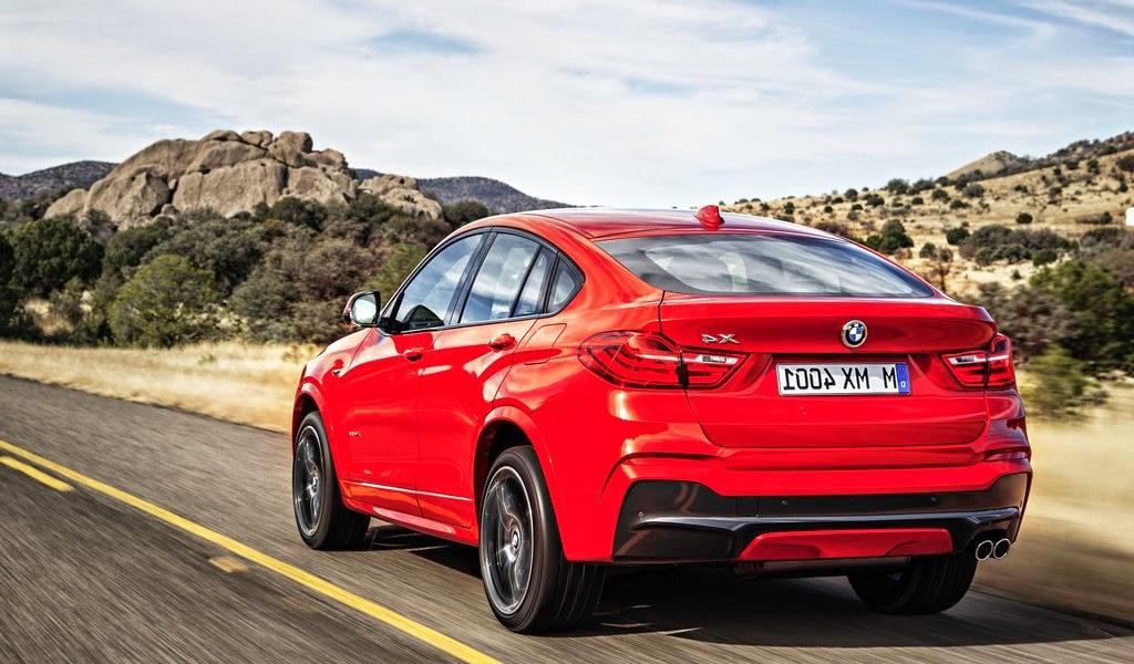 2015 BMW X4 M Sport Package Red Metallic Rear Wallpaper
