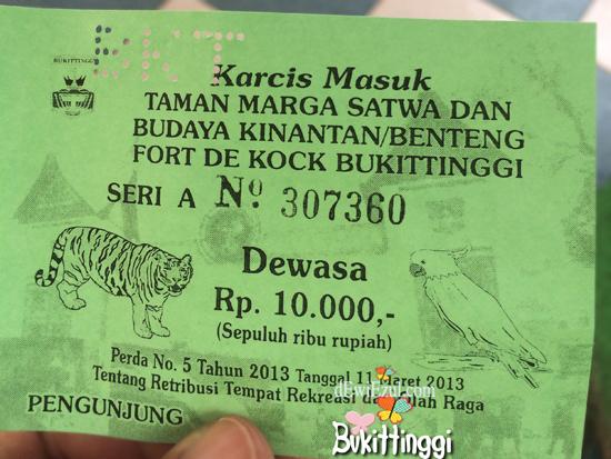 HTM Kebon Binatang Kinantan Bukittinggi,berapa harga tiket masukKebon Binatang Kinantan Bukittinggi