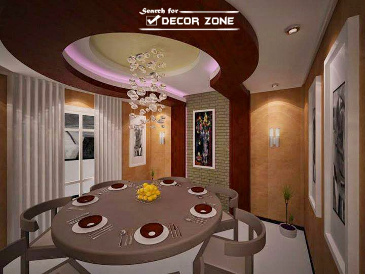 5 new false ceiling designs with led ceiling lights for Dining room false ceiling designs