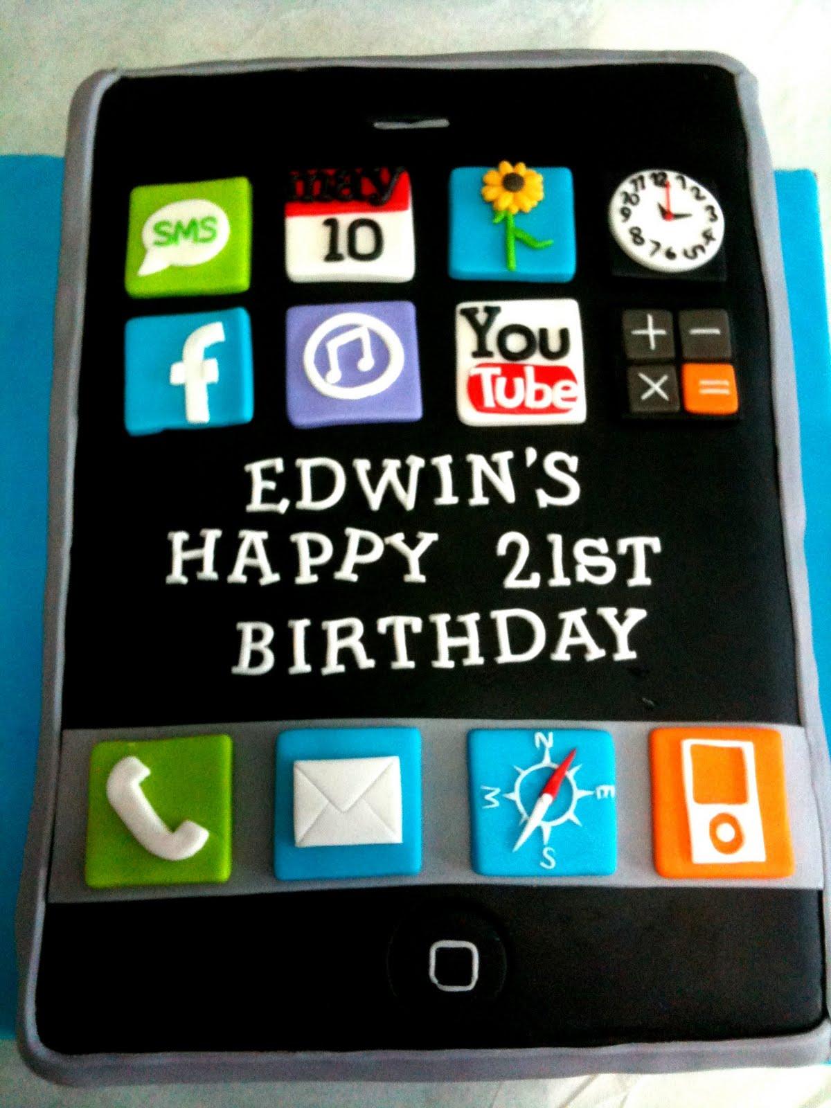 Oven Creations Happy 21st Birthday Edwin
