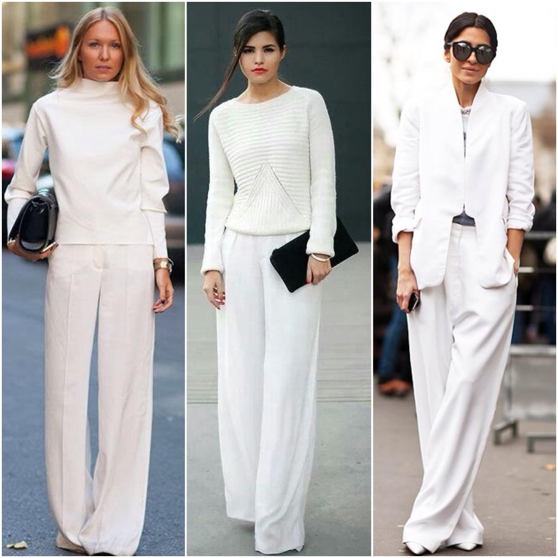 8f2642339741 Persino un look total white non risulta eccessivo. Per indossarlo giocate  con le sovrapposizioni