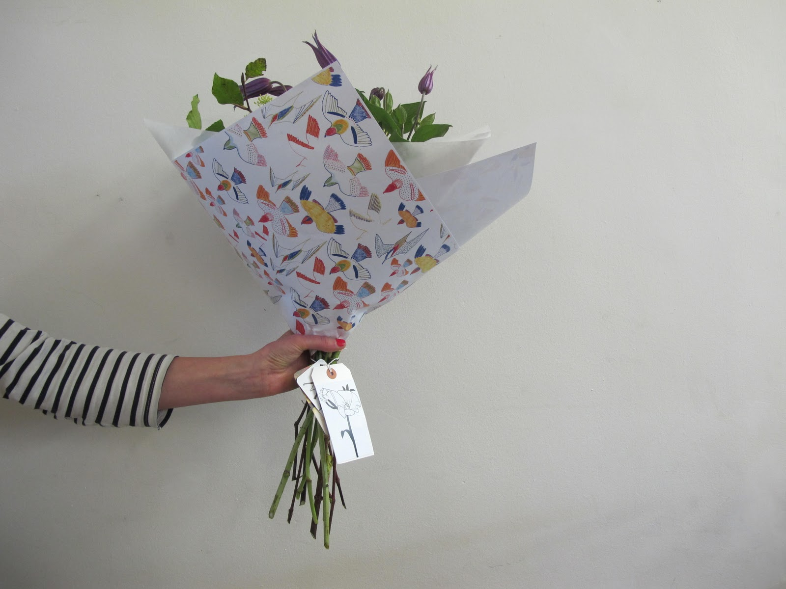 The Flower Appreciation Society Our Wrapping Paper Tags Care