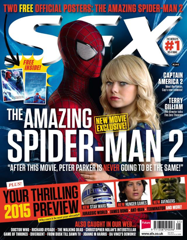 Emma Stone y Spider-Man en portada de la revista SFX mayo 2014