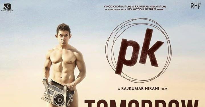 Aamir Khans PK poster a copy of Quim Barreiros album