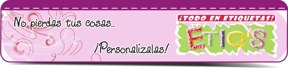 Todo en etiquetas personalizadas: ETIQ'S TERMO-ADHERIBLES QUE ...