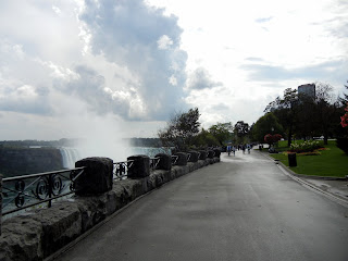 Biking on the Canadian side in Queen Victoria Park while visiting the Niagara Falls