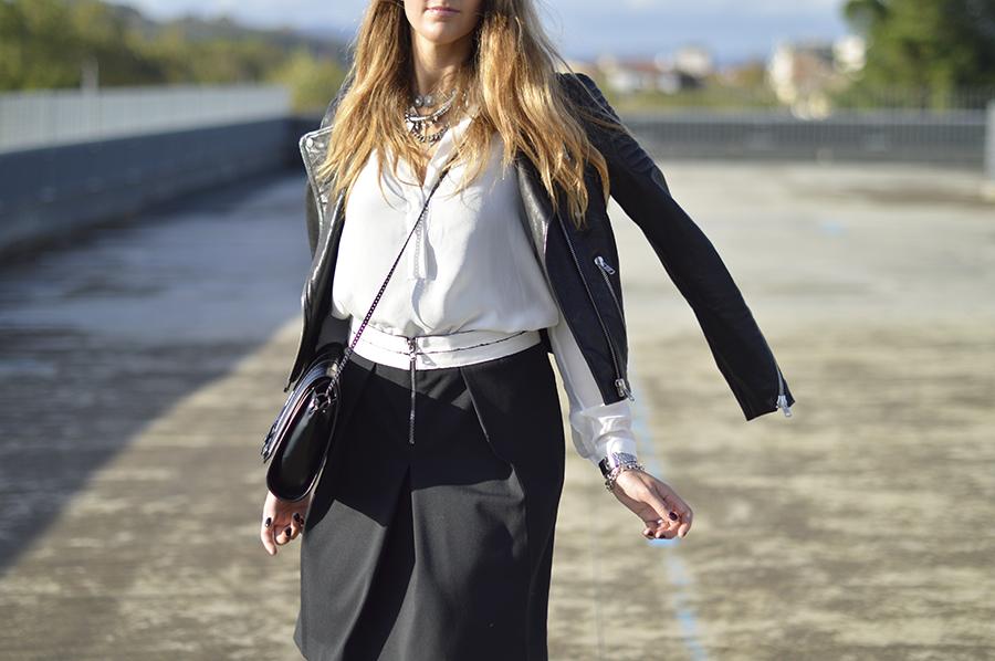 fashion blogger outfit, h&m jacket, h&m leather jacket, casadei pumps, my fantabulous world, fashion blogger, fashion blogger italiane, fashion blogger firenze, dior make up, zara bag, QL2, abiti QL2