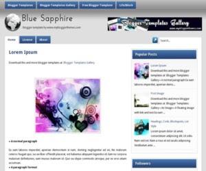 BlueSapphire Blogger Template
