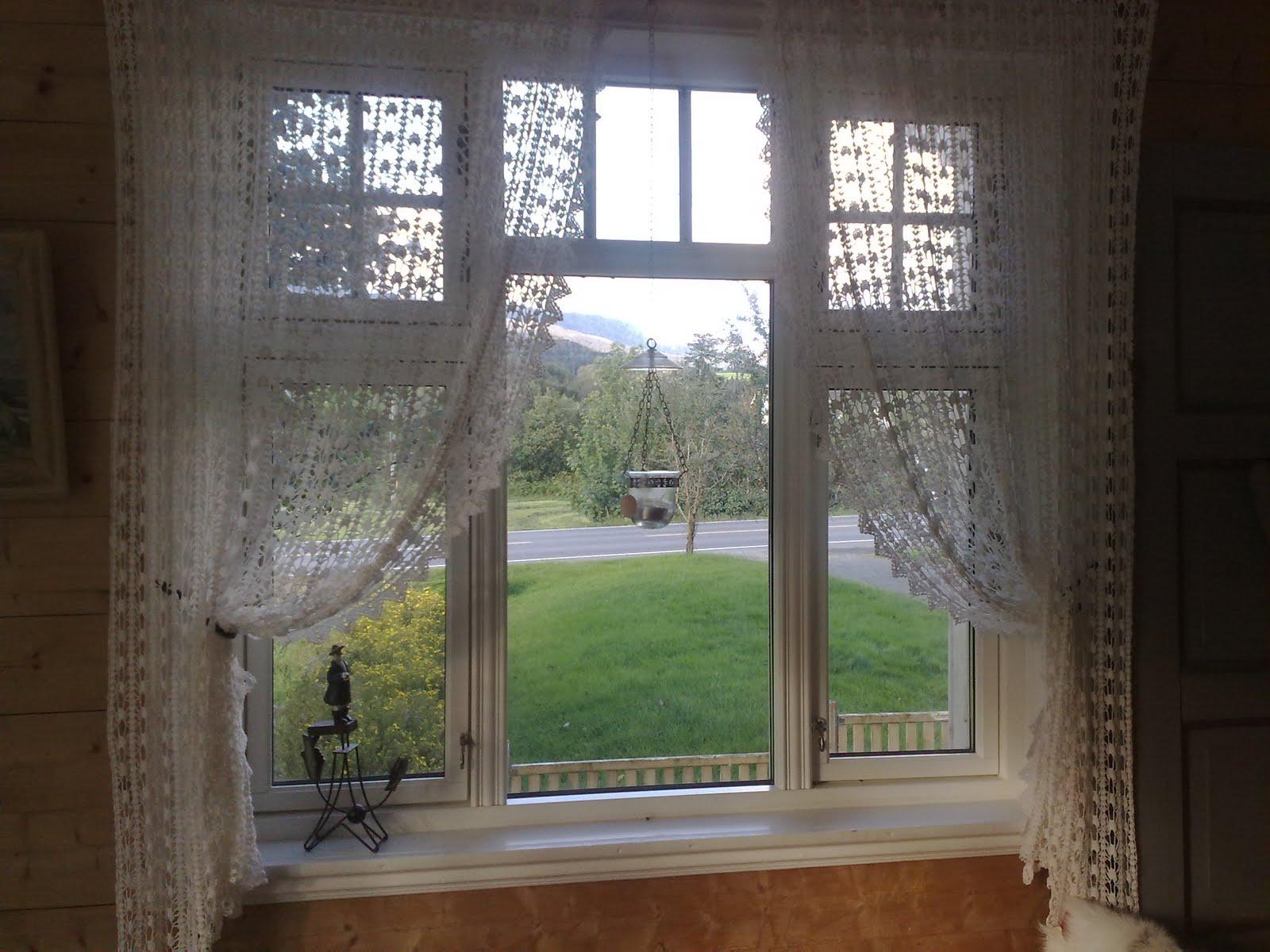Heklede gardiner oppskrift