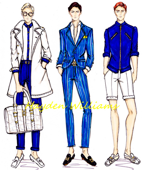 hayden williams fashion illustrator menswear drawings sketches illustrations mens style