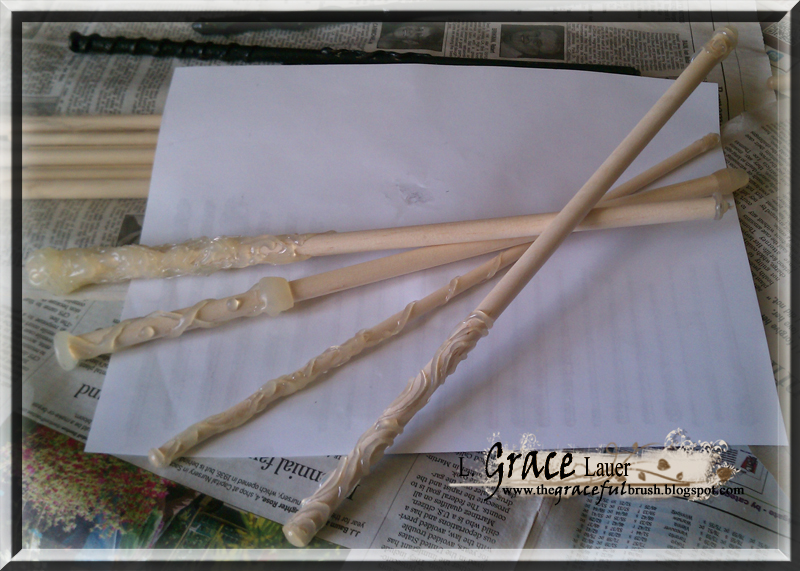 Uniquely grace harry potter party ollivanders wand craft for Wand designs