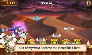 Screenshots of the Line Wind Runner for Android tablet, phone.