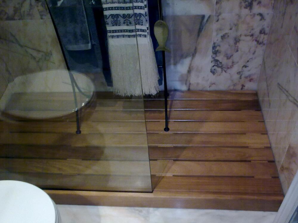 Tarima de ducha de madera muebles cansado zaragoza for Ducha madera
