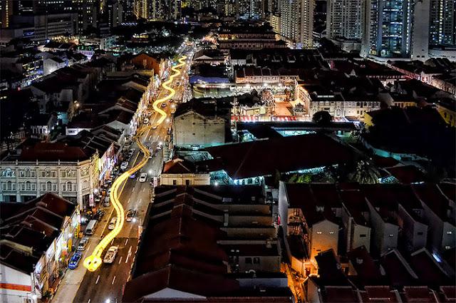Giant Γλυπτική φίδι Στη Σιγκαπούρη