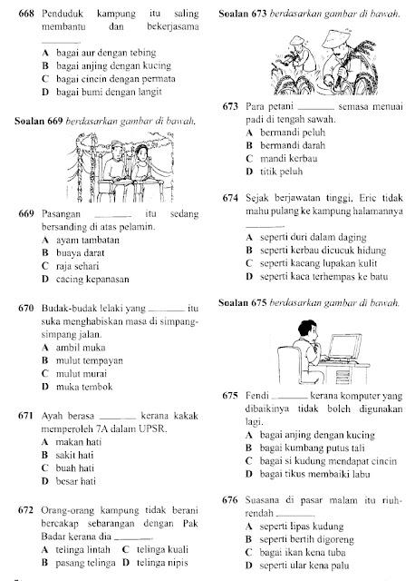 Latih Tubi UPSR Simpulan Bahasa