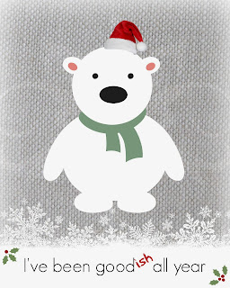 Polar Bear Printable Free at SoHeresMyLife.com New printables every day until December 23rd.